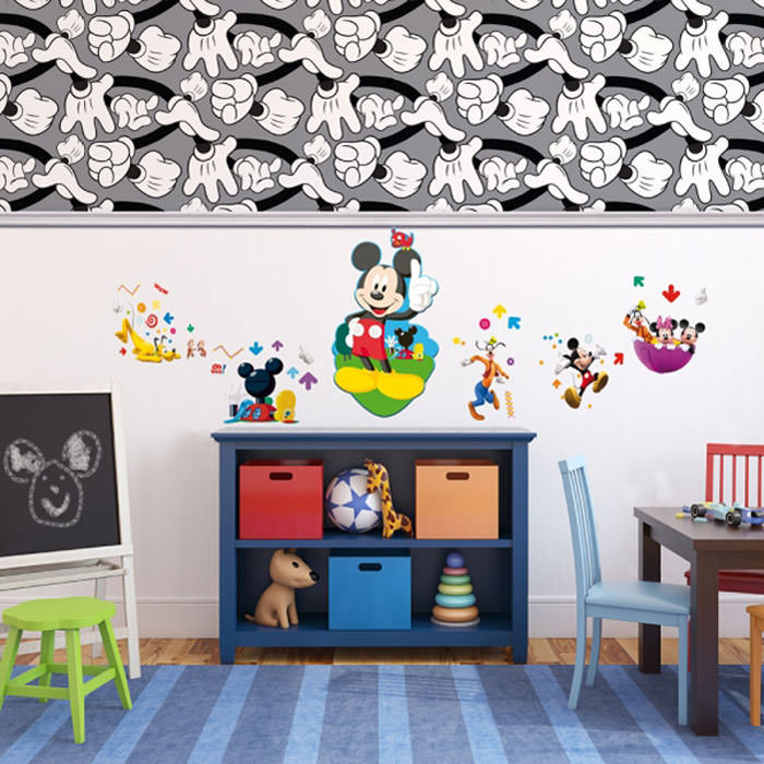 llena de magia la habitaci n de tus hijos con papel. Black Bedroom Furniture Sets. Home Design Ideas