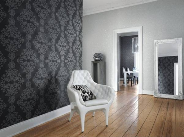 5 tendencias para decorar paredes con papel pintado for Papel pintado negro