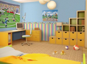 3d interior of the children's room