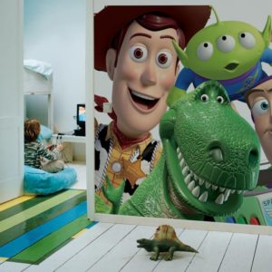 Mural decorativo Toy Story.